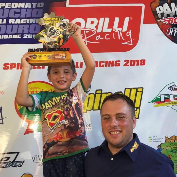 Fabiano Cupincha e o filho Arthur, 10 anos